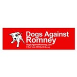 Dogs Against Romney Bumper Sticker