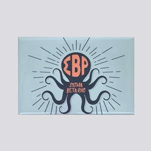 Sigma Beta Rho Octopus Rectangle Magnet