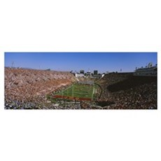 Football stadium full of spectators, Los Angeles M Canvas Art