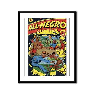 $39.99 All-Negro Comics Framed Panel Print