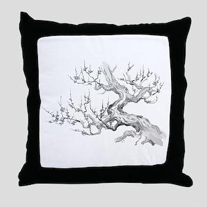 Japanese plum Throw Pillow