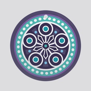 Mysterious Circle Pattern Ornament (Round)