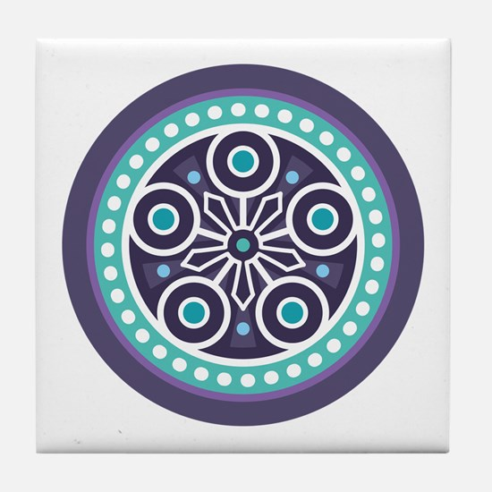 Mysterious Circle Pattern Tile Coaster