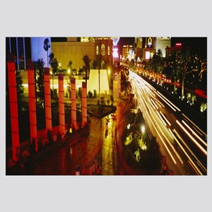 Traffic on a road at night, Las Vegas, Nevada