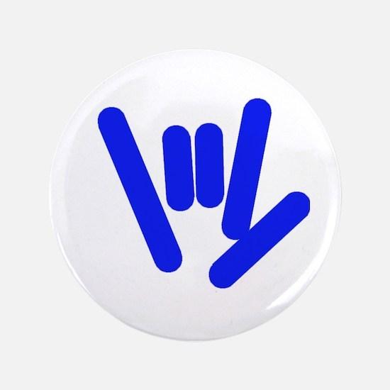 "ASL Rocks Bright Blue 3.5"" Button"