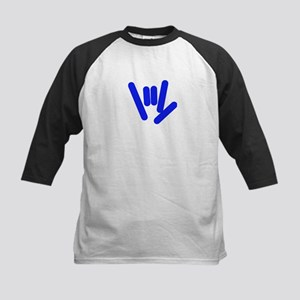 ASL Rocks Bright Blue Kids Baseball Jersey