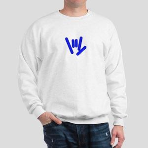 ASL Rocks Bright Blue Sweatshirt