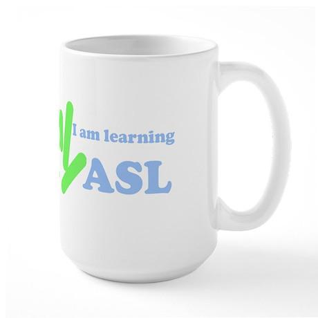 Learning ASL Large Mug
