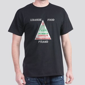 Lebanese Food Pyramid Dark T-Shirt