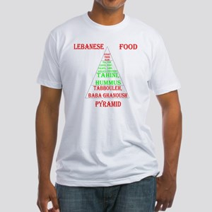 Lebanese Food Pyramid Fitted T-Shirt