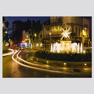 Fountain lit up at night in a city, Cavaillon, Vau