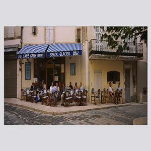 Tourists at a sidewalk cafe, Lourmarin, Vaucluse,