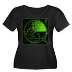 Radar2 Women's Plus Size Scoop Neck Dark T-Shirt