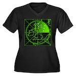 Radar2 Women's Plus Size V-Neck Dark T-Shirt