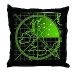 Radar2 Throw Pillow