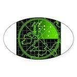 Radar2 Sticker (Oval 10 pk)