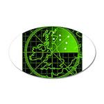 Radar2 38.5 x 24.5 Oval Wall Peel
