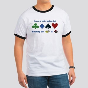 Poker Diet Ringer T