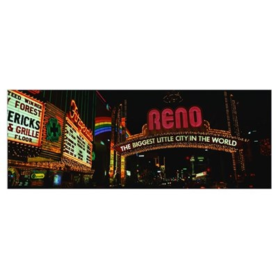 Marquees Reno NV Framed Print
