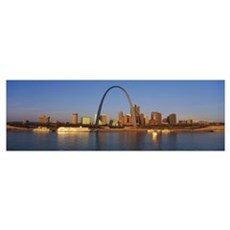 St. Louis Skyline Framed Print