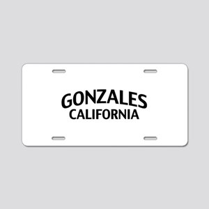 Gonzales California Aluminum License Plate