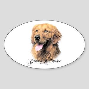 Golden Retriever Sticker (Oval)