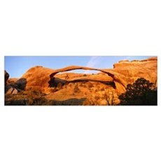 Sunrise Landscape Arch Arches National Park UT Poster