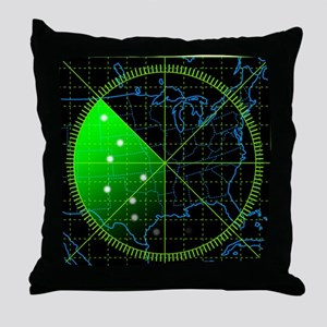 Radar3 Throw Pillow