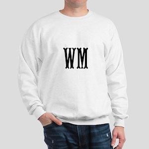 Black Initials. Customize. Sweatshirt