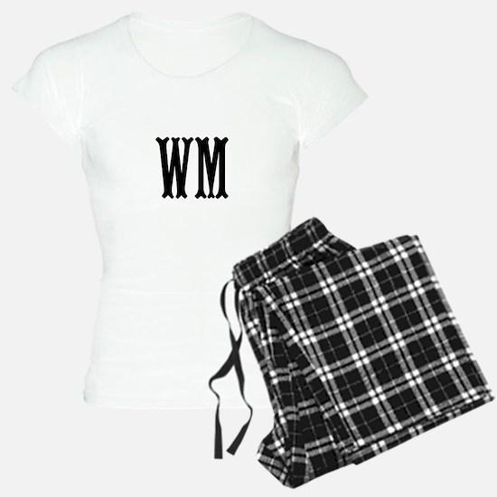 Black Initials. Customize. Pajamas