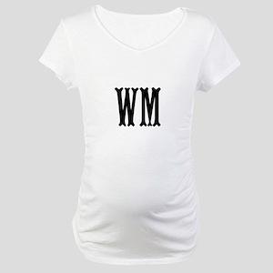 Black Initials. Customize. Maternity T-Shirt