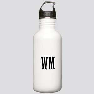 Black Initials. Customize. Stainless Water Bottle