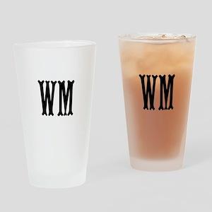 Black Initials. Customize. Drinking Glass