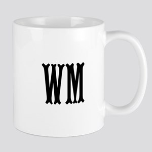 Black Initials. Customize. Mug