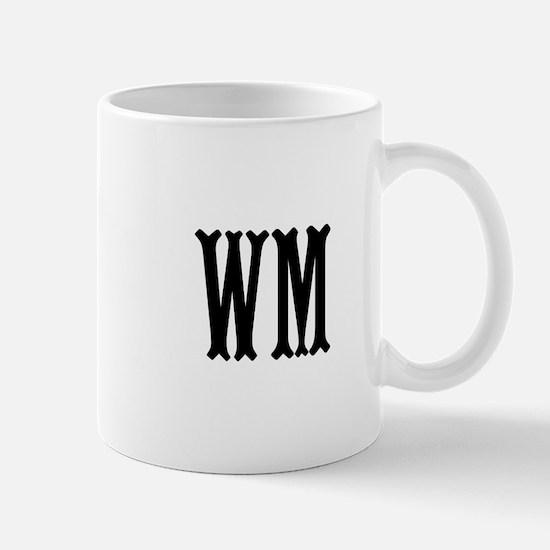 Black Initials. Customize. Mug