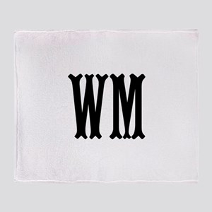 Black Initials. Customize. Throw Blanket