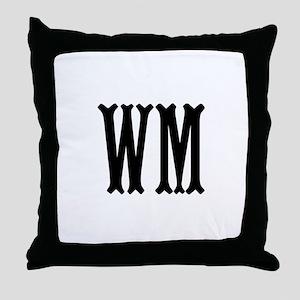 Black Initials. Customize. Throw Pillow