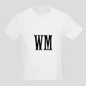 Black Initials. Customize. Kids Light T-Shirt