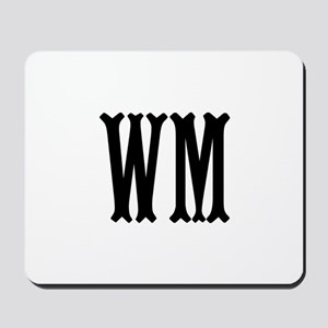 Black Initials. Customize. Mousepad