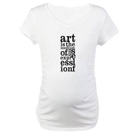 Art is My Medium Maternity T-Shirt