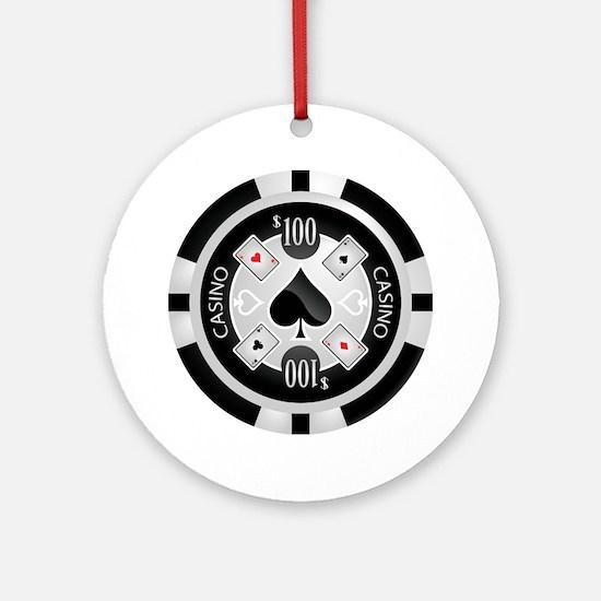 Casino Chip Ornament (Round)