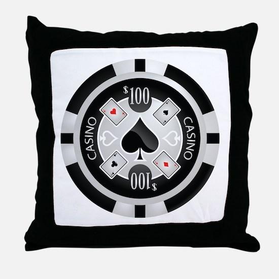 Casino Chip Throw Pillow