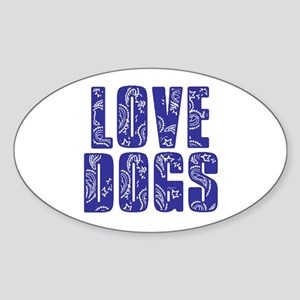 Love Dogs Sticker (Oval)