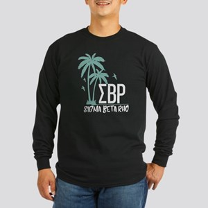 Sigma Beta Rho Palm Trees Long Sleeve Dark T-Shirt