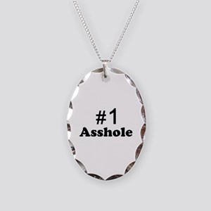 NR 1 ASSHOLE Necklace Oval Charm