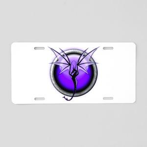 Purple Spirit Dragon Aluminum License Plate