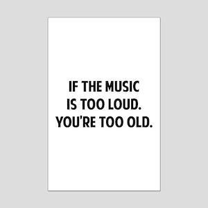 LOUD MUSIC Mini Poster Print