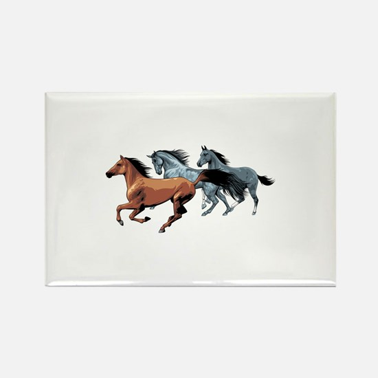 Horses Rectangle Magnet