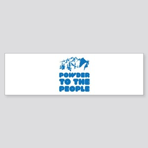 Powder To The People Sticker (Bumper)