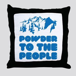 Powder To The People Throw Pillow